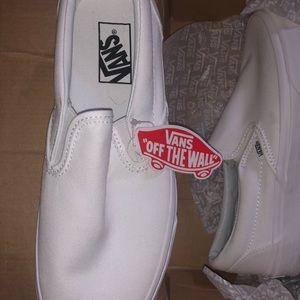 White Slip On Vans (sz 9 womens)
